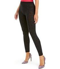 i.n.c. seamless embossed paisley-print leggings, created for macy's