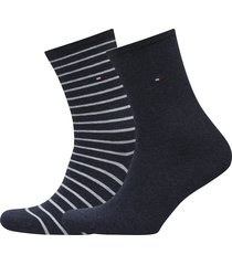 th women small stripe 2p lingerie hosiery socks svart tommy hilfiger