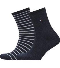th women small stripe 2p lingerie hosiery socks svart tommy hilfiger