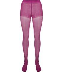 junya watanabe high-waist semi-sheer tights - purple