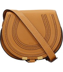 chloé mini marcie shoulder bag in leather color leather