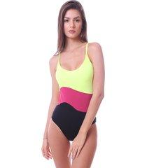 maiô simony lingerie cavado com bojo multicolor ambra beach multicolorido