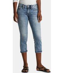 silver jeans co. suki cuffed capri jeans