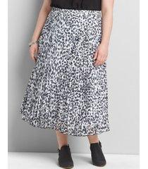 lane bryant women's pleated pull-on midi skirt 26/28 diamond print