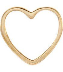 'heart' 18k yellow gold charm - with love
