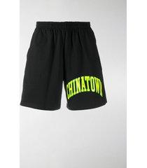 chinatown market logo print shorts