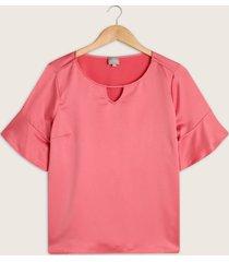 blusa manga corta cuello redondo-14