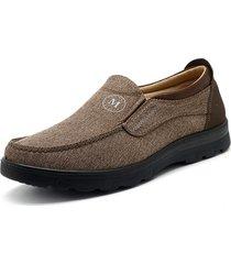 scarpe di stoffa casual piatte di peking di grandi dimensioni da uomo