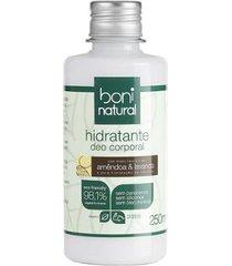 hidratante corporal boni natural - amêndoa e lavanda 250ml