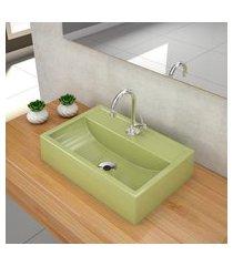 kit cuba para banheiro trevalla q45e torneira válvula 1pol verde acqua
