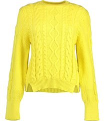 lemon aran stitch oversized sweater