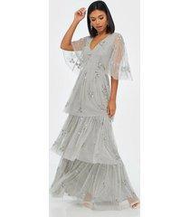 maya embellished tiered maxi dress maxiklänningar