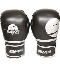 luva boxe mks combat champions fit cinza