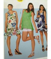 burda sewing pattern 7390 misses dress top tunic size us 10-20 eur 36-46 new