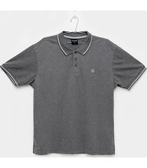 camisa polo delkor lisa plus size masculina