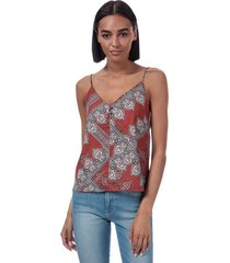 only womens diana scarf print cami top size 10 in brown