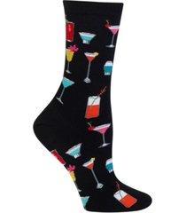 hot sox women's tropical drinks trouser socks