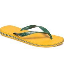 brasil logo flip flop shoes summer shoes flip flops gul havaianas