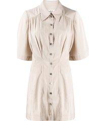 ba & sh cara mini shirt dress - neutrals