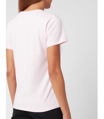 maison kitsuné women's handwriting classic t-shirt - light pink - l