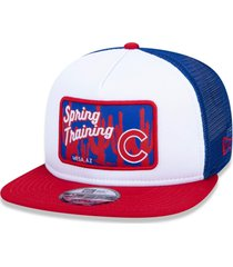 boné new era 9fifty trucker mlb chicago cubs spring training