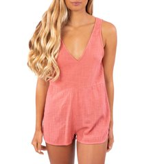 women's rip curl holly sleeveless romper, size x-large - pink