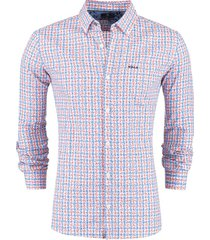 new zealand overhemd falls print oranje blauw