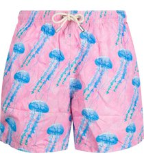 mc2 saint barth graphic-print swim shorts - pink