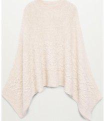 mango women's knit oversize cape