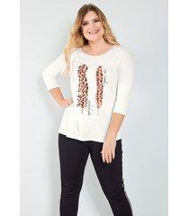 shirt sara lindholm offwhite::bruin
