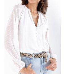 camisa para mujer cruda manga larga tipo body con textura