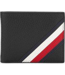 tommy hilfiger men's downtown mini credit card wallet - black