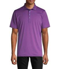 g/fore men's stripe polo t-shirt - scarlet - size xl
