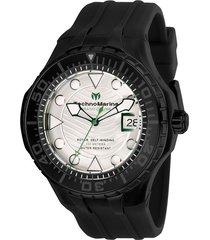reloj technomarine tm-118085 negro silicona