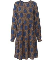 jurk met lange mouwen en fijne franje van lieblingsstück multicolour