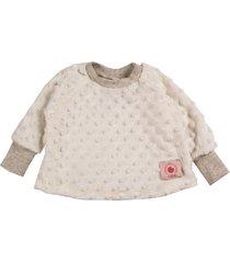casaco infantil plush bolhas - branco - algodã£o - dafiti