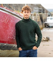 mens glengarriff green aran sweater medium