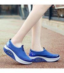 cojín de aire zapatos de mujer zapatos de plataforma deportiva.