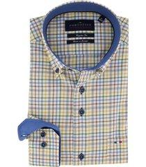geruit overhemd portofino regular fit