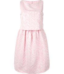 emporio armani layered peplum mini dress - pink