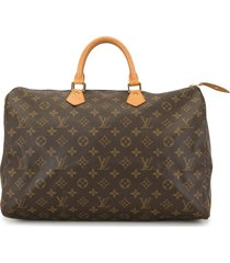 louis vuitton 1994 pre-owned speedy 40 travel bag - brown
