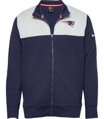 new england patriots nike logo long sleeve jacket tunn jacka blå nike fan gear