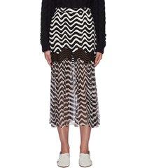 'natalia' wave print skirt