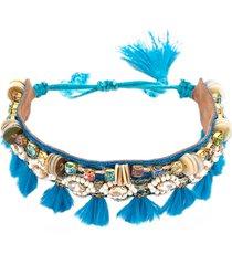 deepa gurnani vivi tassel bracelet in blue at nordstrom