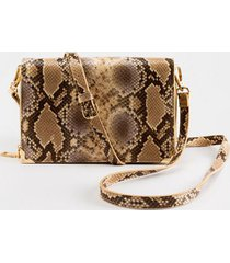 abigail textured zip around string wallet - beige