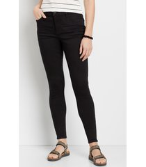 maurices womens denimflex™ black high rise curvy jegging
