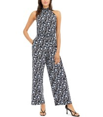 inc printed mock-neck jumpsuit, created for macy's