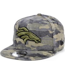 new era men's denver broncos worn camo 9fifty cap