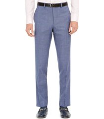 tallia orange men's slim-fit stretch blue plaid suit pants
