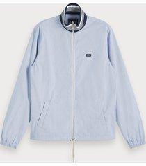 scotch & soda lightweight zip-through jacket